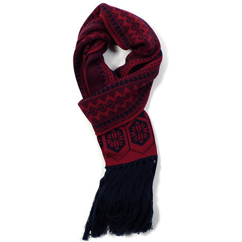 White Mountaineering Jaquard Wool Scarf