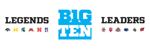 Here's another look at the new Big Ten logo with the divisions included