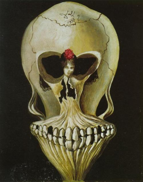 Monday Dali : Ballerina in a Death's Head, 1939