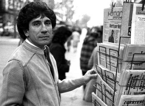 Cuban playwright, poet and novelist Reinaldo Arenas.