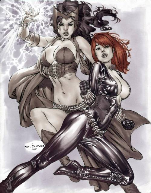 Scarlet Witch & Black Widow by Eric Basaldua