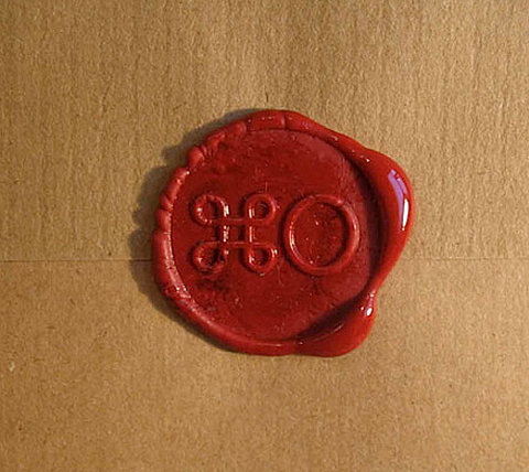 "typeverything:  Typeverything.com ⌘O wax seal.   Haha — ""open"""