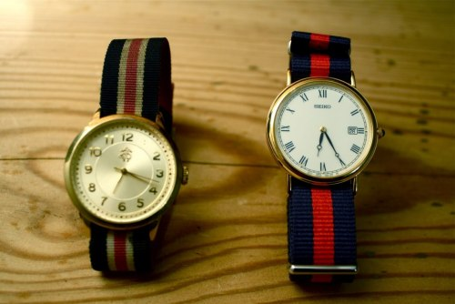 Old and new, navy and red