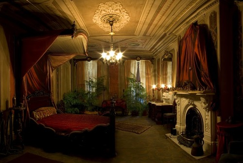 The Red Bedroom of the Victorian Mansion in Portland, Maine.  I could live with that…  cindys photo quest