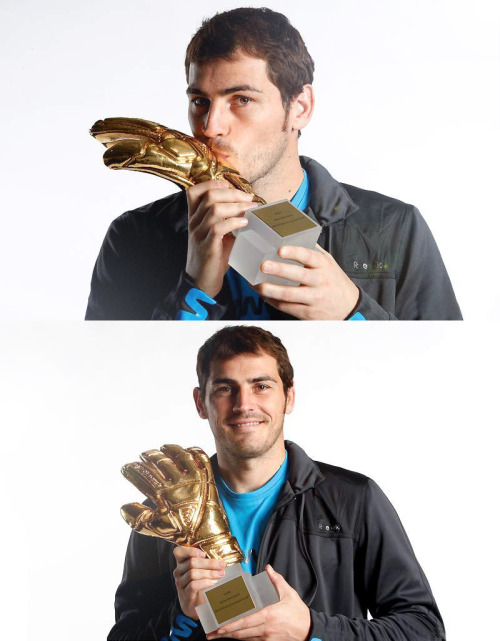 "Iker Casillas recieved the FIFA Golden Glove award on Tuesday, which is presented to the best goalkeeper of the World Cup.  ""It is such an honor to receive this award. It makes me realize that my work hasn't gone unnoticed. I fulfilled a lot of personal goals by winning the World Cup. It was something I dreamed about as a kid, and when I saw players like Dunga, Cafu, Zidane and Cannavaro raise the Cup I always thought it would be impossible. But we finally did it."""