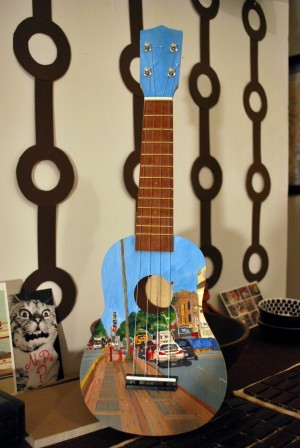 "In keeping with the custom uke theme: Gift Lab #9: An Inspired Ukulele (via theGoods), an account of assembling the ""Make Your Own Ukulele"" kit that I'd posted a few weeks back. This brief description includes an audio track of the finished product. Really looks fun, eh?"