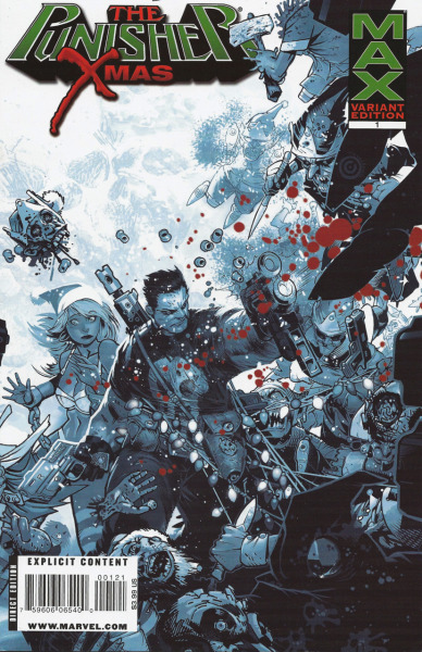 Punisher MAX X-mas Special 2008Cover by Chris Bachalo