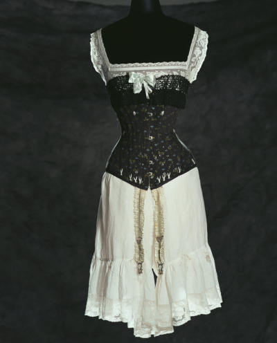 Undergarments, c. 1900 Corset: 52cm (Waist) and 76cm (Bust) Garters Bloomers Kyoto Costume Institute