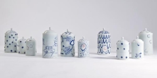 Adam Frew: Small porcelain jars Series