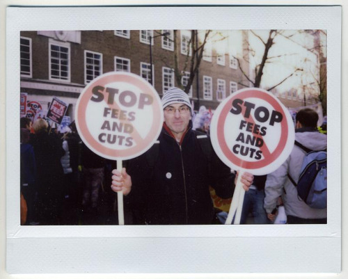 From last weeks big student protests in London