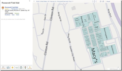 Bing's new mall maps: Get in, get out, and avoid the crowds (via) Well, that's a crop of startups who've just run into one of the two gorillas of online maps. (I can't imagine it'll take Google long to do the same thing, either.)