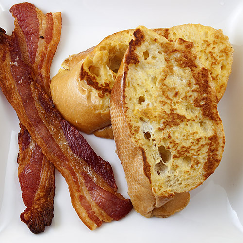 Lemon French Toast with Bacon.