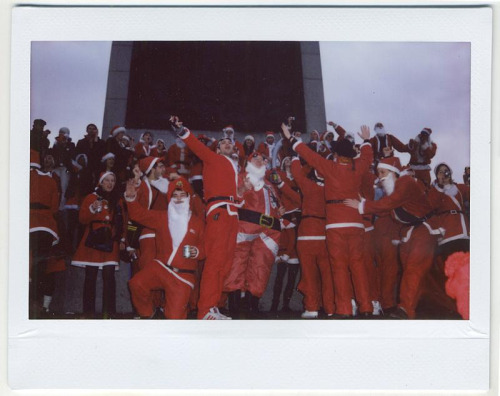 London's annual Santacon arrives in Trafalgar Square December, 2010