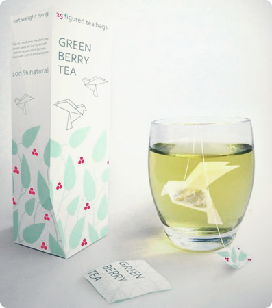 I love tea, and I'm fond of origami. This project by Nathalia Ponomareva involves both.  Though not exactly practical, I love the idea of my teabags turning into birds when submerged in hot water. Please, God, let these lovely little things become commercially available.