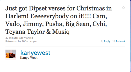 G.O.O.D. Music x DIPSET! Now the title makes sense!  This is gonna be a crazzzyyyy ass song when these verses are out!