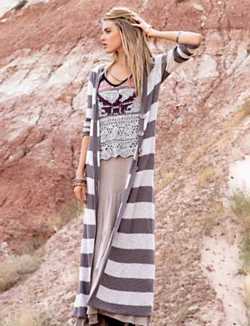 New Horizons Maxi Cardigan - Free People