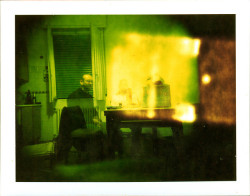 Old House / Spirits Holga pose B without flash. 40 sec of exposure.Printed on Type 100 125 ISO Studio Single SILK Polaroid film.