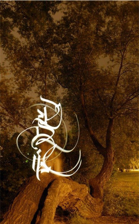 Gallery of Light Calligraphy by Julien Breton