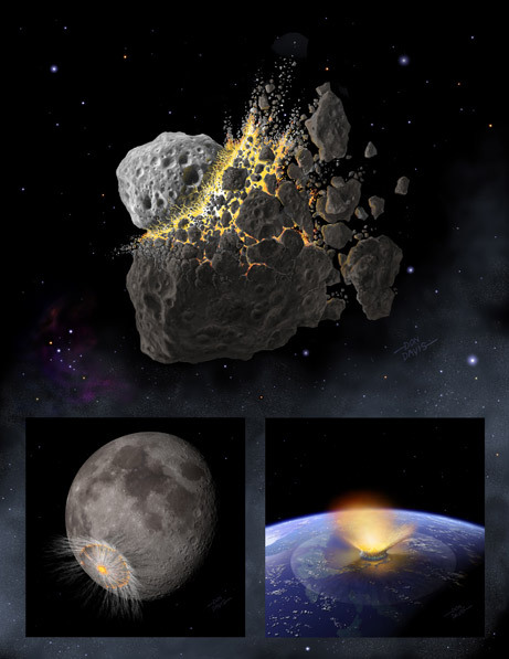 unknownskywalker:  Life's building blocks found on surprising meteorite Scientists have discovered amino acids, the building blocks of life in a meteorite where none were expected. The finding adds evidence to the idea that some of life's key ingredients could have formed in space, and then been delivered to Earth long ago by meteorite impacts. This meteorite formed when two asteroids collided. The shock of the collision heated it to more than 2,000 degrees Fahrenheit (1,093 degrees Celsius), hot enough that all complex organic molecules like amino acids should have been destroyed, but they were found anyway. The meteorite eventually crashed into northern Sudan. Read the full story at Space.com