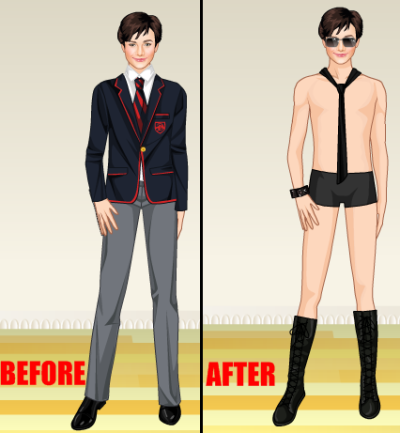 maybeimdreaming:  BEFORE AND AFTER BLAINE ARRIVES.