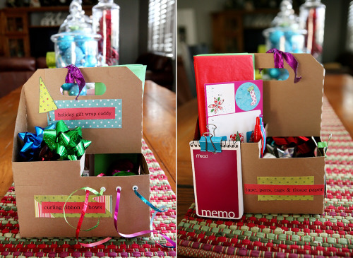 The Gift Wrap Caddy— what a great idea!