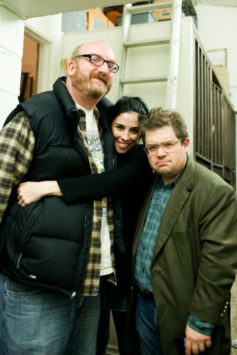 @SarahKSilverman @pattonoswalt @thebrianposehn at CDR Xmas last night