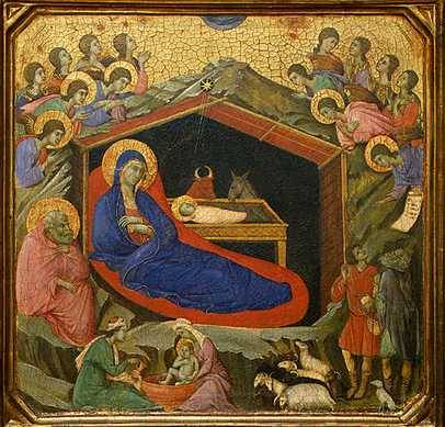 Duccio, La nativité, (1310), National Art Gallery , Washington