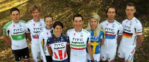 The eight HTC-Highroad national champions in the 2011 team kit Photo: © HTC-Highroad
