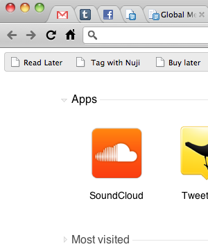 It's a screenshot of the Chrome App Store with our SoundCloud app on it.