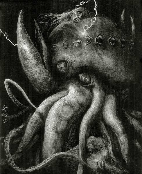 - The Dunwich Horror (2008)by Santiago CarusoFrom his illustrated version of Lovecraft's 1928 classic. via weirdletter