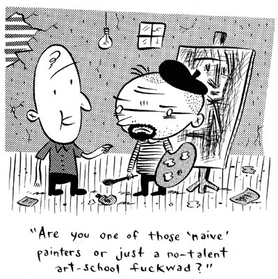 Comic Art Collective - Ivan Brunetti - '… art school fuckwad?' Original comic art from top artists
