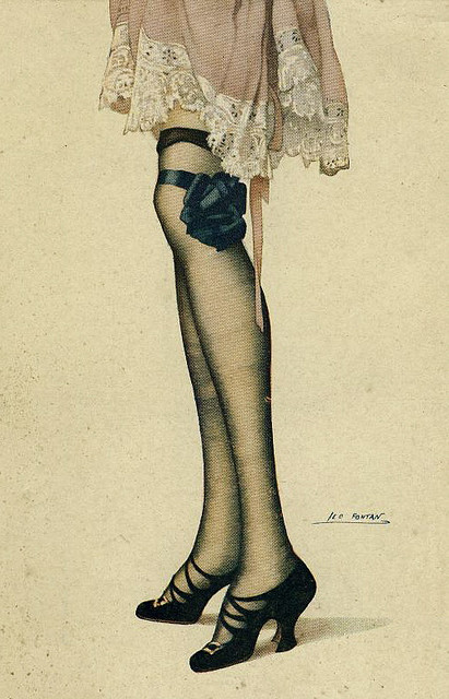 Naughty French Postcard (by Frank Long)