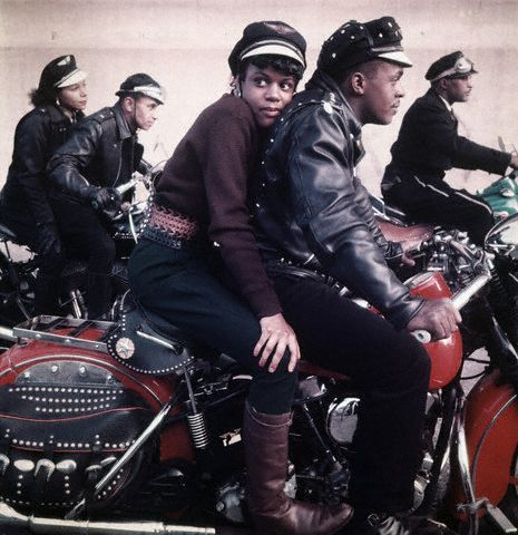 Black Harlem Motorcycle Club   ca. 1959, Harlem, NY  Image by © Norman Parkinson Limited/Corbis
