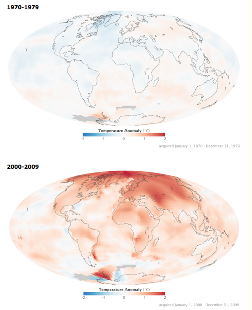 "New NASA Global Warming Map  Now, someone remind me why it is that right-wingers GET RED IN THE FACE AND VEINS EXPLODE OUT OF THEIR FOREHEADS whenever anyone brings this up?  Is it SOLELY because they're mindlessly parroting what the Right Wing's Corporate Overlords have sent out as ""the message""?  Because I can understand them getting fired up about issues like abortion, or religion. or evolution… but seeing them get mad enough to murder you just because you said, ""hey, there's global warming happening"" kind of boggles my mind."