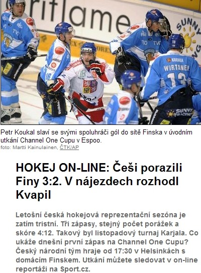 Yes! I ♥ Czech hockey!