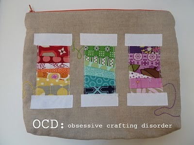 traciturchin:  ocd: obsessive crafting disorder: Rainbow Spool Pouch