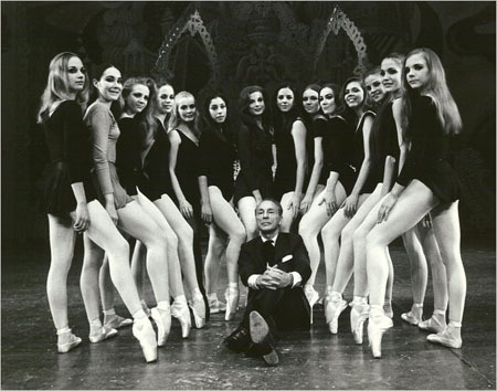 Balanchine & his dancers. i miss ballet.