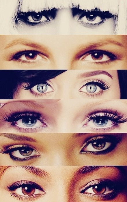 """THE EYES of TODAYS GREAT POP STARS"" so whose your FAVORITE?"