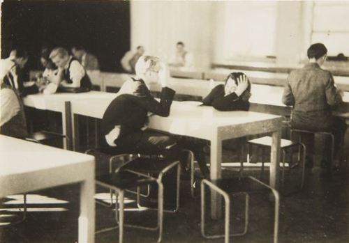 Iwao Yamawaki, Cafeteria after lunch, Bauhaus, Dessau,1932
