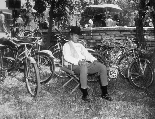 Ray Milland has many bikes to ride.