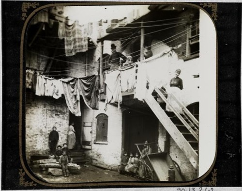viacapitalnewyork:  Incredible trove of old photos up on the Museum of the City of New York's site. You can browse by photographer, era or borough. This shot of a Baxter Street court was taken by Jacob Riis in 1890. Eighteen ninety.  Although the site's UI is cumbersome, the old NYC photographs are dope.
