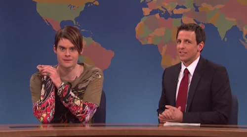 Saturday Night Live Ep. 36X10 - Weekend Update (Stefon) Stefon - GLIMPSE INTO SETH MEYERS.