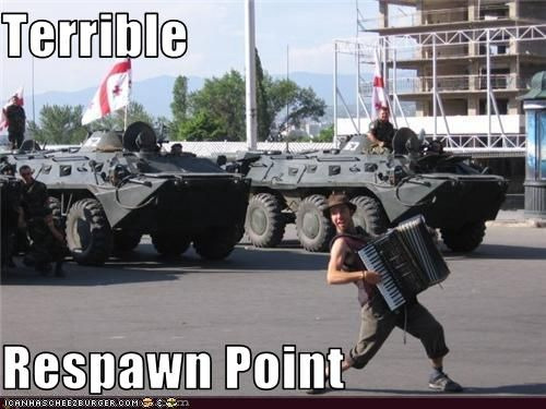 Terrible respawn point