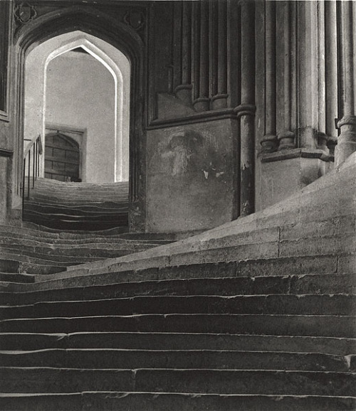 turnofthecentury:   The Sea of Steps [Stairs to Chapter House - Wells Cathedral] 1903 by Frederick H. Evans photogravure [also as sepia platinum print]