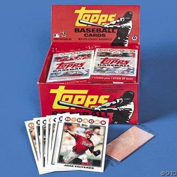 Gum Inside Packs of Baseball Cards (photo via.)