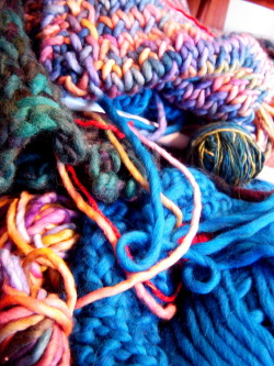 PILES OF KNITTING