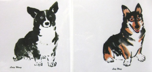 I saw ZERO corgis in SoCal. But! I did find these really cool cards made by Lucy Wang of San Diego. My ability to zone in on anything corgi is probably pathological. I saw these cards from outside the store amongst all other (lamer) breeds.