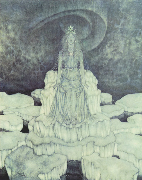 thebeldam: The Snow Queen on the Throne of Ice  Edmund Dulac