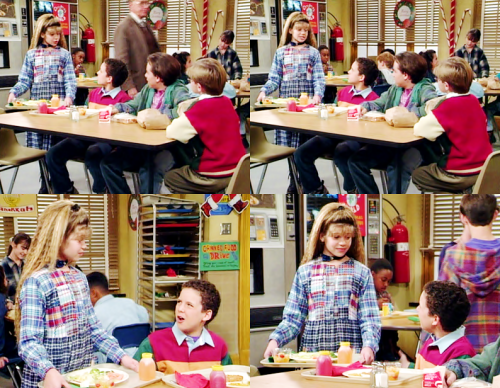 "fuckyeahtvpicspam:  TOPANGA: I just think we often lose sight of the true meaning of Christmas in the frenzy of commercialism.CORY: What are you talking about? How are we gonna know what to ask for if we don't have commercials?  Boy Meets World 1.10 - ""Santa's Little Helper"" (via sleepyjean)"