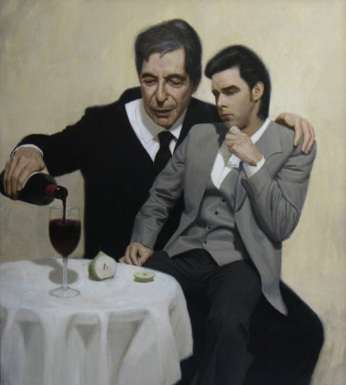 "signa:  xaipe: ""The Influence (Leonard Cohen consoles Nick Cave)"" by Ben Smith"